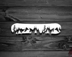 Snowboard Sticker Etsy