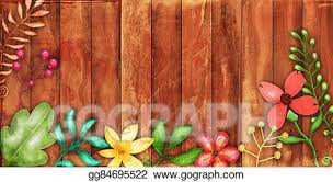 Drawing Rustic Floral Fence Border Clipart Drawing Gg84695522 Gograph