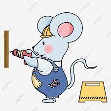 Chuột Nhỏ Dễ Thương Công Cụ Xây Dựng Xây Dựng Chuột Nhỏ Rào Chắn ...