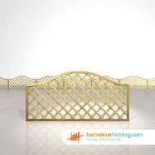 Omega Lattice Fence Panels 3ft X 6ft Natural Berkshire Fencing