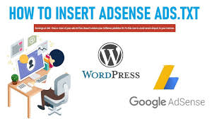 how to insert ads txt file in your