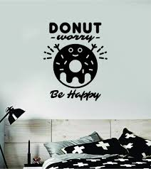 Donut Worry Be Happy Wall Decal Vinyl Home Decor Room Bedroom Sticker Boop Decals