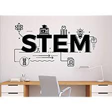 Stem Science Wall Decal Vinyl Sticker Technology Engineering Mathematics Decor Classroom School Interior 71n Amazon Com