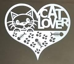 Cat Lover Car Decal Window Decal Wall Decal Bumper Sticker Etsy