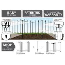 Vigoro Beaumont 53 3 In X 3 In X 3 In Black Steel Fence Post And Stake 860183 The Home Depot