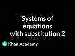 systems of equations with substitution