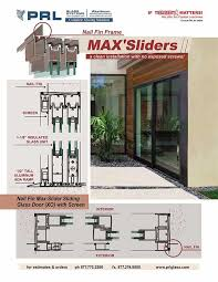 max sliding doors with nail fin frame