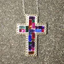 stained glass cross nwot adjustable