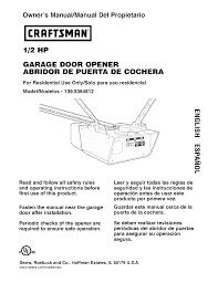 user manual 1 2 hp garage door opener
