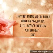 birthday wishes for ex boyfriend quotes and messages