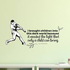 Trinx Dark World Baseball Sports Vinyl Wall Decal Wayfair