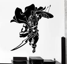 Wall Vinyl Decal Sparta Spartan Warrior Soldier Fighting Home Interior Decor Unique Gift Z4054 Vinyl Wall Decals Spartan Warrior Vinyl