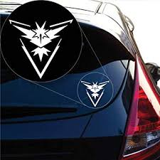 Amazon Com Yoonek Graphics Team Instinct Pokemon Inspired Decal Sticker For Car Window Laptop And More 1057 6 X 6 4 White Automotive
