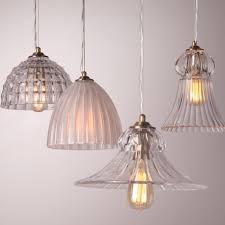 art deco glass lampshade pendant light