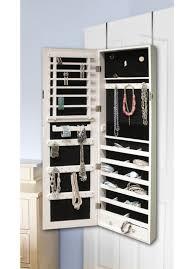 door jewelry armoire with mirror