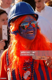 Broncos fan Wendy Patterson, of McCall, Idaho, enjoys pre-game... News  Photo - Getty Images