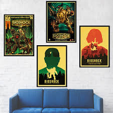 Fps Game Bioshock Poster Kraft Paper Print Painting Home Wall Art Retro With Free Shipping Worldwide Weposters Com