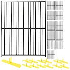 Perimeter Patrol 6 Ft X 60 Ft 12 Panel Black Powder Coated European Style Welded Wire Temporary Fencing Rf 2020 Edp The Home Depot