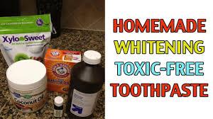 homemade whitening toothpaste recipe w