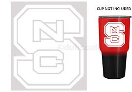 Nc State Wolfpack White 3 Premium Vinyl Decal Sticker