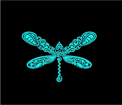 Intricate Dragonfly Decal Custom Vinyl Car Truck Window Sticker Customvinyldecals4u