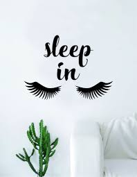 Sleep In Eyelashes Beautiful Design Decal Sticker Wall Vinyl Decor Art Boop Decals