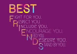 purple background colorful quote about best friends