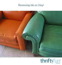 removing ink on vinyl thriftyfun