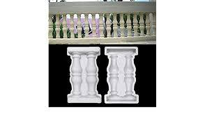 Evergremmi Concrete Fence Post Mold Roman Column Fence Plastic Mould Plaster Mold For Concrete Diy Balcony Garden Pool Ornament Decor Decorative Fences