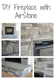 diy stone fireplace with airstone