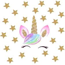 Amazon Com Accmor Unicorn Wall Decals Unicorn Wall Sticker Decor Unicorn Diy Stickers For Baby Girls Kids Bedroom Playroom Party Decoration Baby