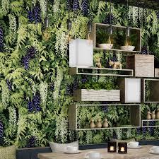 Restaurant Tea Shop Cafe Background Wall Decoration Wallpaper 3D  Stereoscopic Ivy Green Leaf Mural Wallpaper Papel De Parede 3D| | -  AliExpress