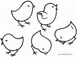dibujos de pollitos para colorear e