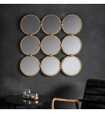 bradbury antique gold 9 circles mirror