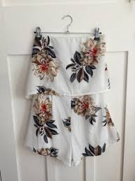 rumour boutique strapless playsuit on