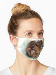 """Cute Yorkshire terrier dog puppy digital painting"""" Mask by adriana-holmes 