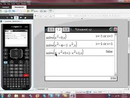 using your ti nspire cas to solve