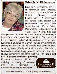 Priscilla N. Richardson - Marysville Journal-Tribune