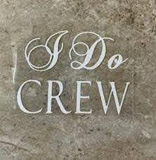 I Do Crew Iron On Shirt Decal Diy Bridal Party Bachelorette Etsy