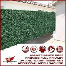 48 H 4 Artificial Faux Ivy Leaf Privacy Fencing Screen Decor Outdoor Hedge Ebay Privacy Fence Screen Fence Screening Outdoor Privacy Panels