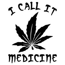 Marijuana Medicine Weed Vinyl Decal Sticker