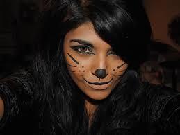 easy halloween cat face makeup