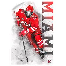 Miami Redhawks Miami Hockey Officially Licensed Wall Art College Wall Art