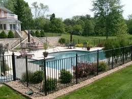 16 Pool Fence Ideas For Your Backyard Awesome Gallery Backyard Pool Landscaping Pool Fence Landscaping Around Pool
