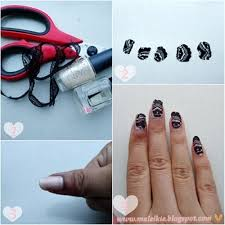 lace nails how to paint braided nail