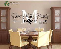 Family Name Custom Wall Decal Personalized Family Monogram Living Room Decor Established Date Vinyl Wall Sticker Ny 441 Custom Wall Decal Vinyl Wall Stickersname Wall Stickers Aliexpress