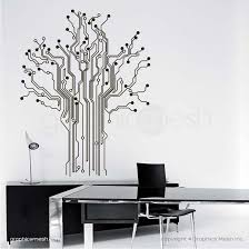 Circuit Board Tree Wall Decals Abstract Interior Home Office Decor For Graphicsmesh
