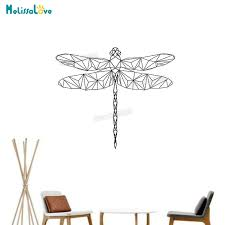 Baby Wall Sticker Geometric Lovely Dragonfly Wall Sticker For Kids Room Decals 3d Vinyl Wall Art Murals Unique Gift Yy837 Wall Stickers Aliexpress