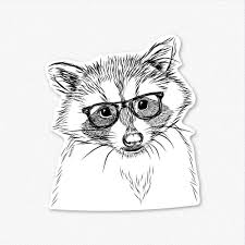 Randy The Raccoon Decal Sticker Inkopious