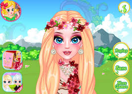 spiele flower fairy makeup tutorial